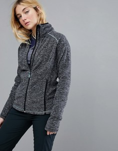 Черная флисовая куртка с молнией Roxy Harmony - Черный
