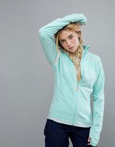 Голубая флисовая куртка на молнии Roxy Harmony - Синий