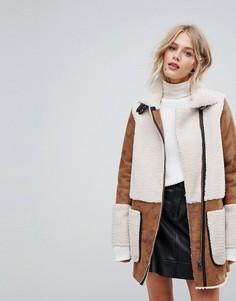 Пальто с заплатками Esprit - Рыжий