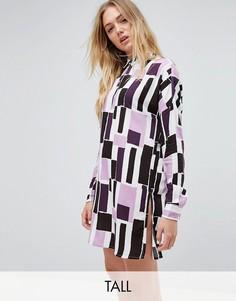 Платье-рубашка с принтом Noisy May Tall - Мульти