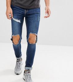 Обтягивающие рваные джинсы Brooklyn Supply Co - Синий