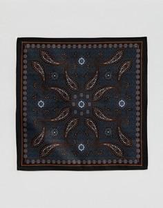 Темно-синий платок для пиджака с принтом пейсли ASOS - Темно-синий