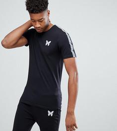 Черная обтягивающая футболка со светоотражающими полосками Good For Nothing TALL - Черный