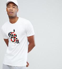 Белая облегающая футболка с логотипом Good For Nothing TALL - Белый