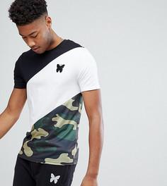 Обтягивающая футболка с камуфляжной вставкой Good For Nothing TALL - Черный
