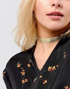Многоярусный чокер из цепочек Lipsy - Золотой