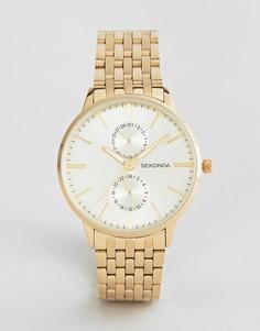 Золотистые часы-браслет Sekonda - Золотой