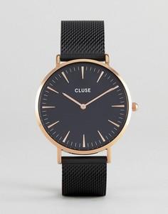 Черные часы с сетчатым ремешком CLUSE CL18034 La Bohème - Черный