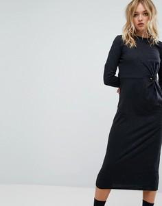 Платье миди с узелком Cheap Monday - Черный