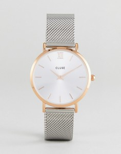 Часы цвета розового золота CLUSE CL30025 Minuit - Серебряный