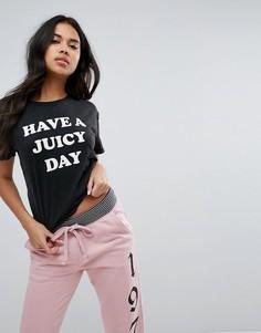 Футболка с принтом Have a Juicy Day Juicy By Juicy Couture - Черный