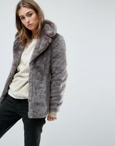 Шуба из искусственного меха Unreal Fur - Серый