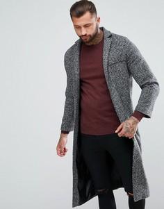 Темно-серое легкое пальто boohooMAN - Серый