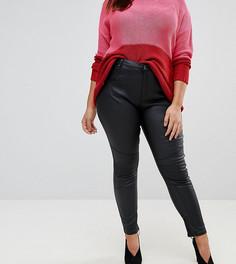 Байкерские джинсы скинни с покрытием Simply Be Chloe - Черный
