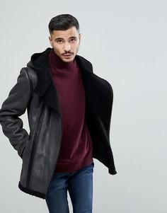 Черная куртка с искусственной овчиной Goosecraft - Черный