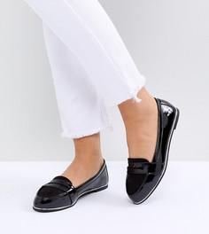 Лакированные лоферы для широкой стопы New Look - Черный
