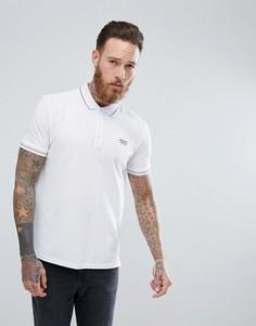 Белая футболка-поло из пике с контрастной отделкой HUGO - Белый