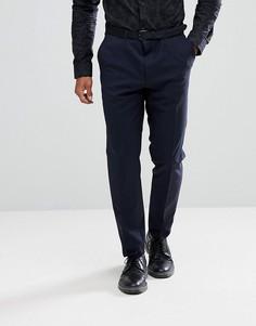 Темно-синие брюки слим HUGO 7 - Темно-синий