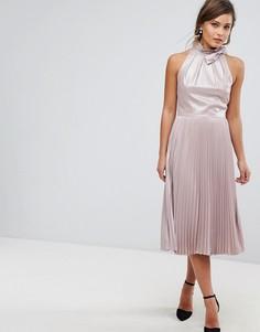 Платье миди со складками Ted Baker - Золотой