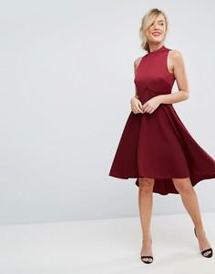 Платье с высоким воротником и пышной юбкой Ted Baker - Красный