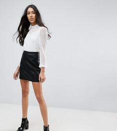 Мини-юбка из искусственной кожи New Look Tall - Черный