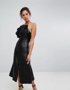 Платье миди с пайетками C/Meo Collective - Черный