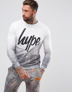 Hype Christmas Sweatshirt In White With Tree Fade - Белый