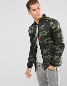 Куртка с камуфляжным принтом Esprit - Зеленый