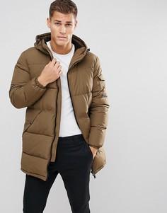 Дутое удлиненное пальто цвета хаки Esprit - Зеленый