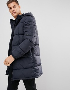 Темно-синее дутое удлиненное пальто Esprit - Темно-синий