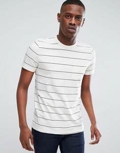 Меланжевая футболка в полоску Esprit - Кремовый