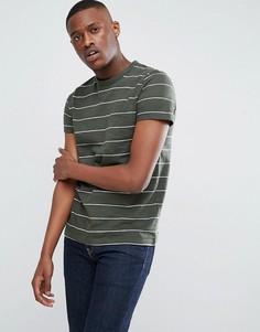 Меланжевая футболка цвета хаки в полоску Esprit - Зеленый