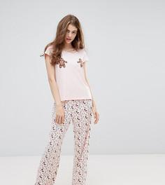 Новогодний пижамный комплект Monki - Розовый