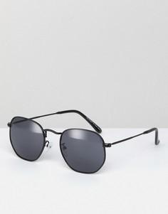Черные круглые солнцезащитные очки AJ Morgan Garner - Черный