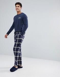 Красно-синие фланелевые штаны для дома Jack Wills - Темно-синий