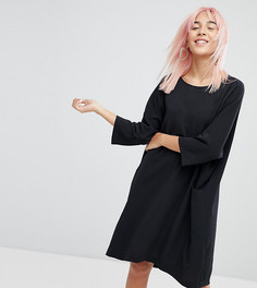 Свободное платье с боковыми карманами Monki - Черный