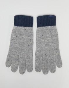 Серые перчатки колор блок Jack Wills - Серый
