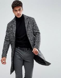 Шерстяное пальто Jack & Jones Originals - Черный