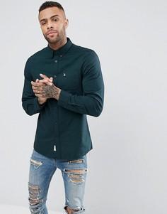Темно-зеленая однотонная оксфордская рубашка Jack Wills Wadsworth - Зеленый