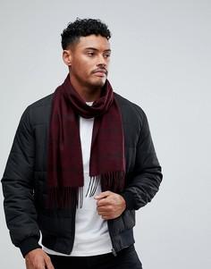 Бордовый шарф в клетку Burton Menswear - Красный