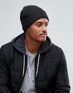 Вязаная фактурная шапка-бини Burton Menswear - Серый