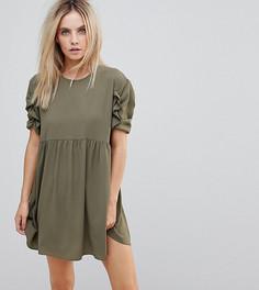 Свободное платье мини ASOS PETITE - Зеленый