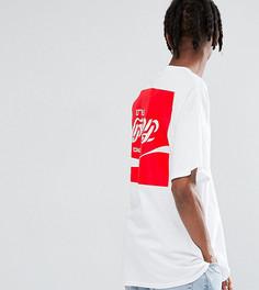Свободная футболка с принтом Reclaimed Vintage Inspired x Coca Cola - Белый