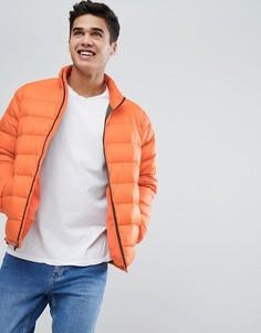Легкая оранжевая дутая куртка Abercrombie & Fitch - Оранжевый
