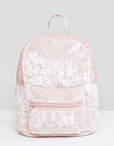 Рюкзак из мятого бархата Hollister - Розовый