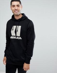 Черный худи с логотипом Armada Icon - Черный