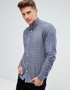 Рубашка из хлопковой саржи в клетку Solid - Темно-синий