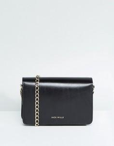 Кожаная сумка с цепочкой Jack Wills - Черный