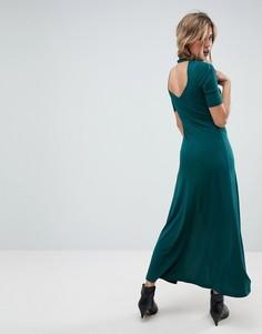 Креповое платье макси ASOS - Зеленый