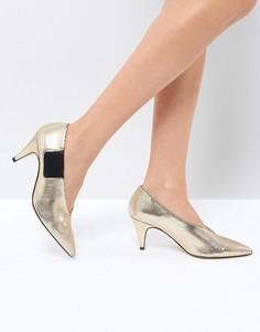 Туфли на каблуке с острым носком Free People - Золотой